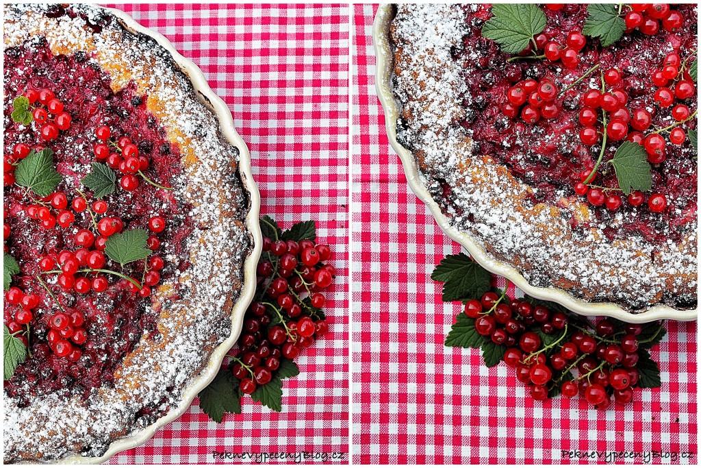 Ovocný koláč (červený rybíz)
