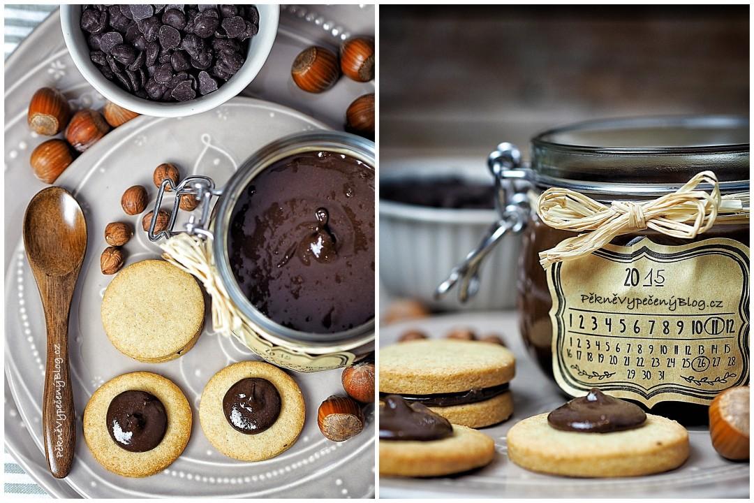 Domácí čokoládovo-oříšková pomazánka
