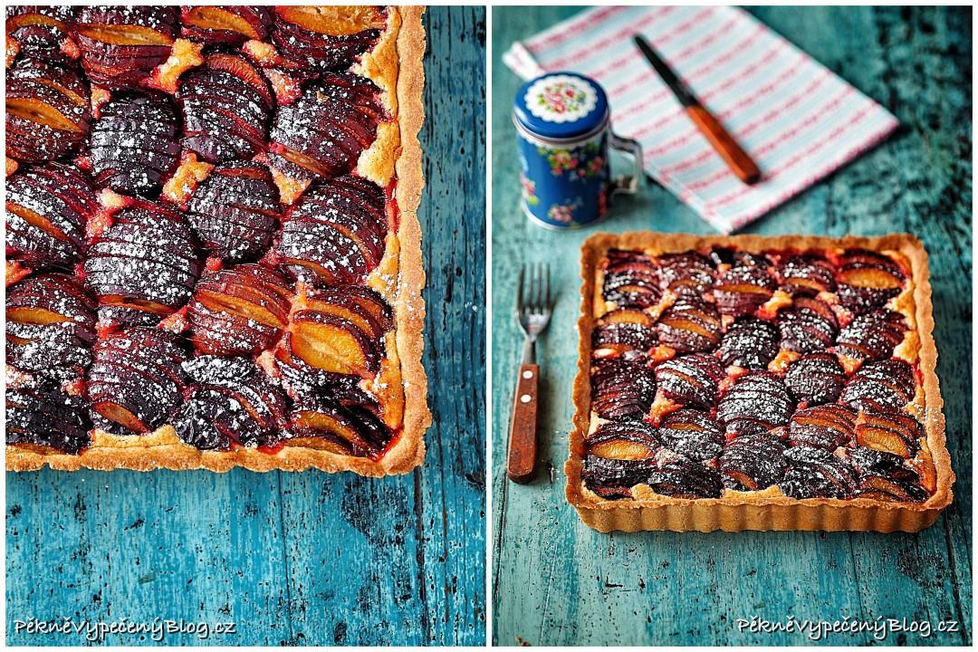 Mandlovo-švestkový koláč