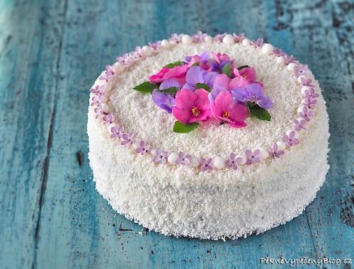 Kakaový dort s kokosovým krémem