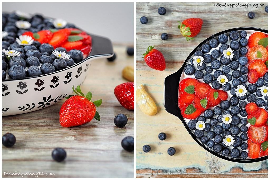Piškotový dezert s krémem a ovocem (výběr)1