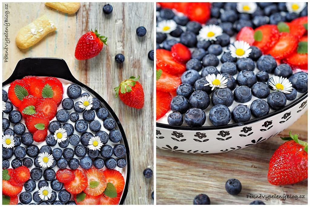 Piškotový dezert s krémem a ovocem (výběr)2
