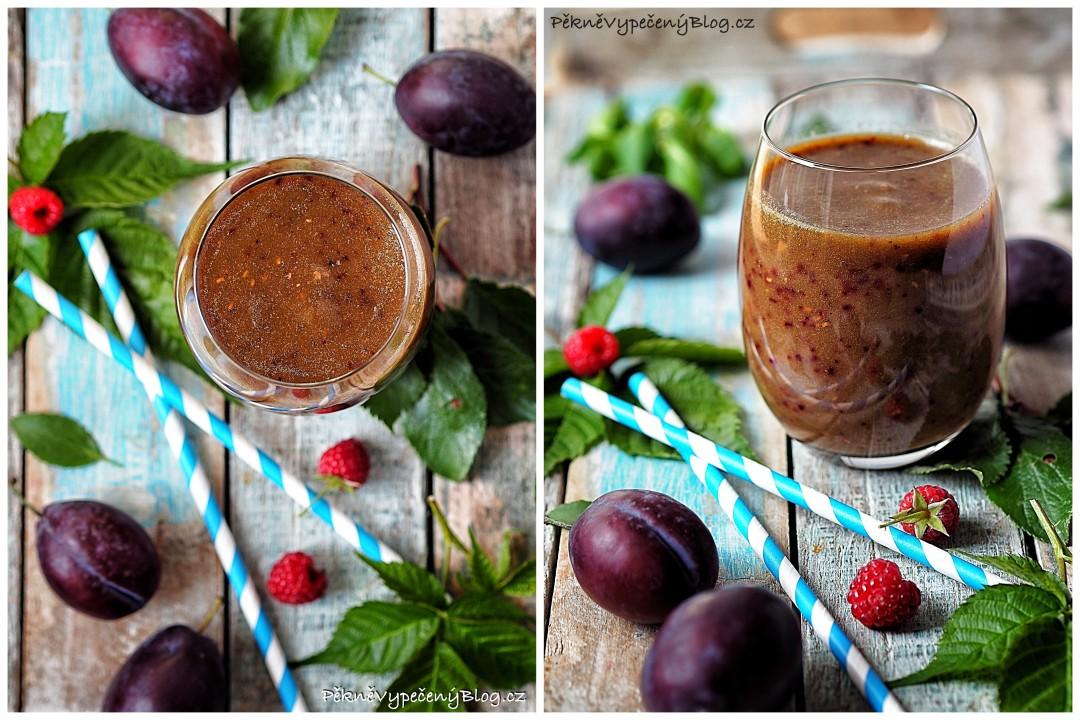 Švestkovo-malinové smoothie