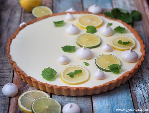 Smetanovo-citronový koláč