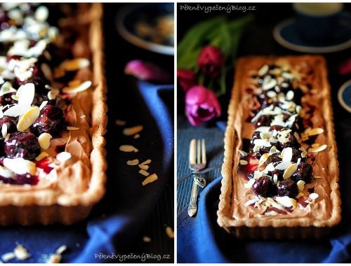 Čokoládový koláč s třešněma (výběr)