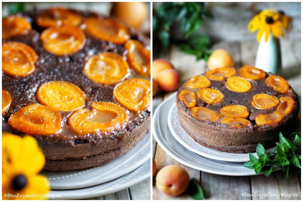 Obrácený meruňkový koláč