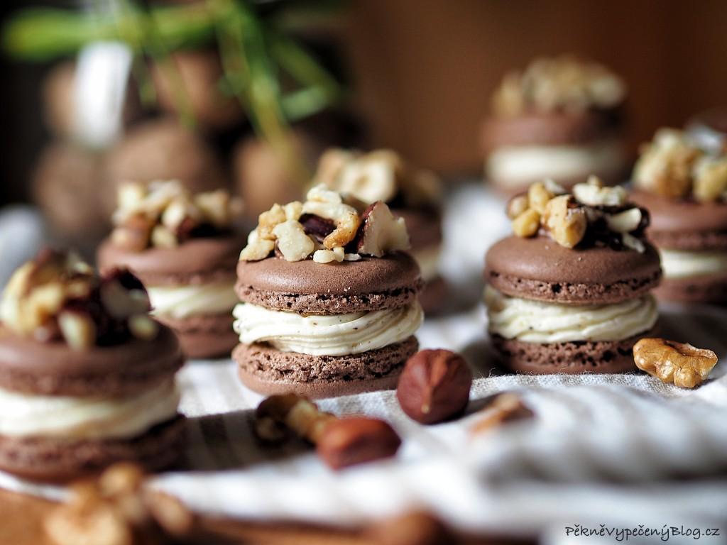 Kakaové makronky