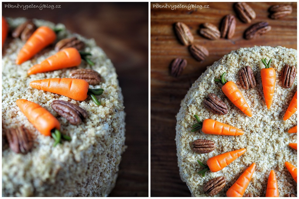 Mrkvovo-ořechový dort