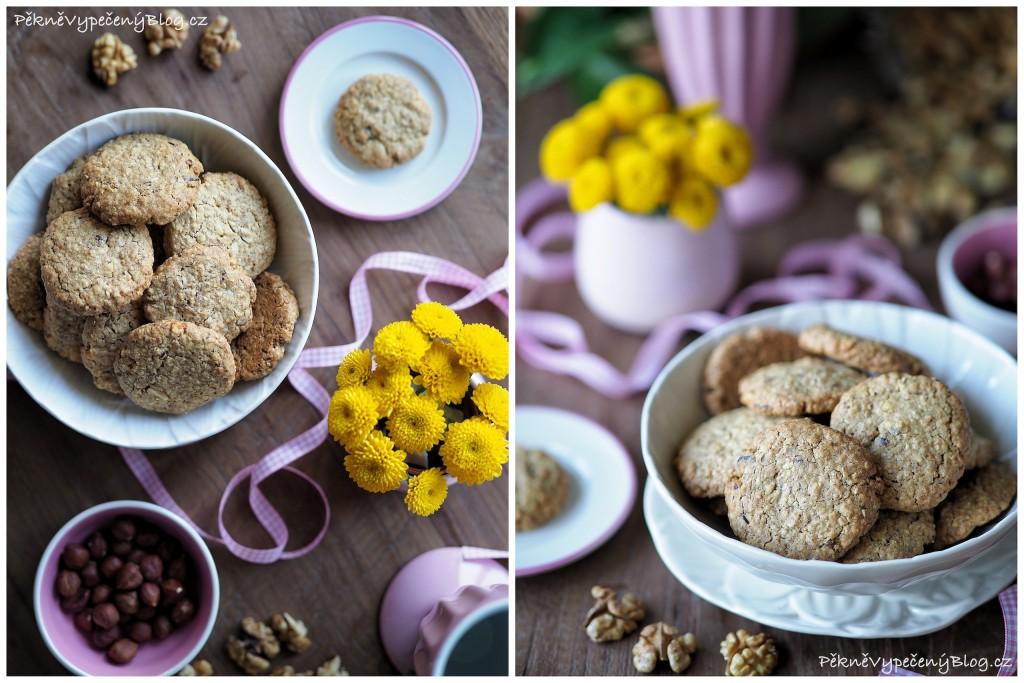 Špaldovo o ovesné sušenky s ořechy