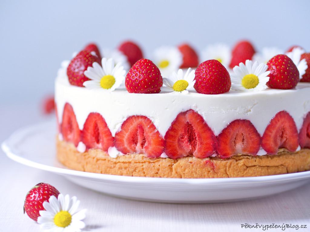 jahodový dort s mascarpone