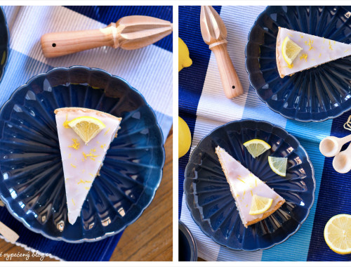 Piškot bez lepku s mákem a citronovou polevou