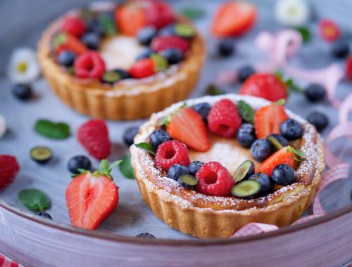 Tvarohové tartaletky s ovocem